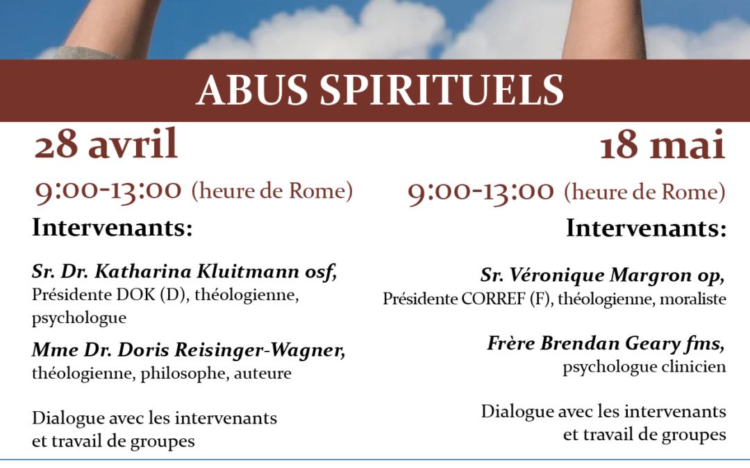 Webinaire «Abus spirituels» du 28 avril 2021 – Les exposés