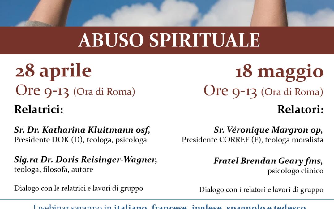 """Webinar """"Abuso spirituale"""" del 28 aprile 2021 – Le conferenze e i video"""